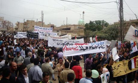 Spandoeken in het Aramees in Qamishli