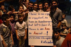 een mooie slogan uit Kafr Anbel