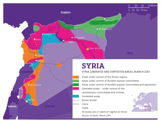 kaart_Syrie april 2013