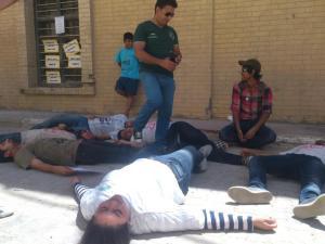 Flashmob van jongeren in Irak