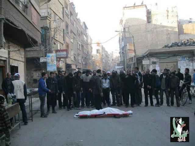 Begrafenis van Qasem al-Mughrabi