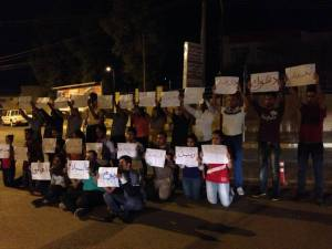 Irakese jongeren tijdens een flashmob in Erbil op de Internationale Dag van de Vrede, 21 September 2013