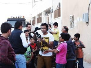 Ahmad Kaddour aan het werk