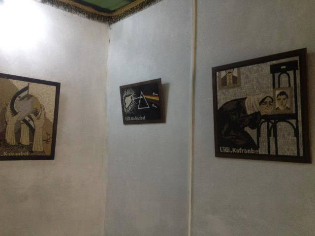 Tentoonstelling van revolutionaire mozaieken in Kafranbel