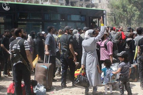 Darayya evacuation civilians
