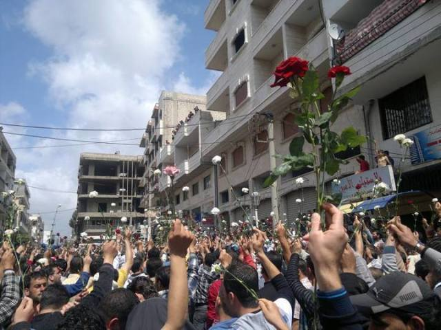 Darayya peaceful protest